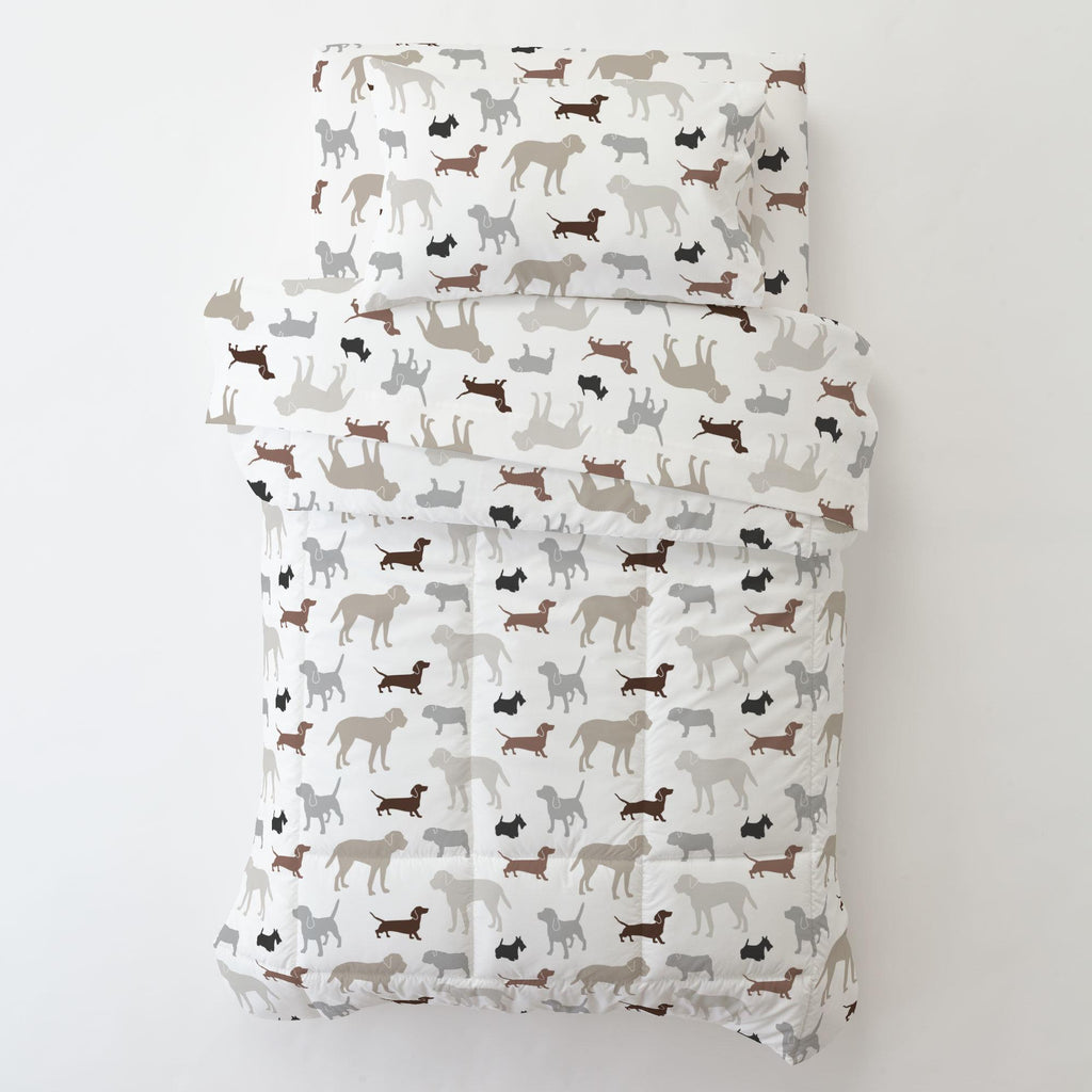 Product image for Brown and Gray Dogs Toddler Comforter