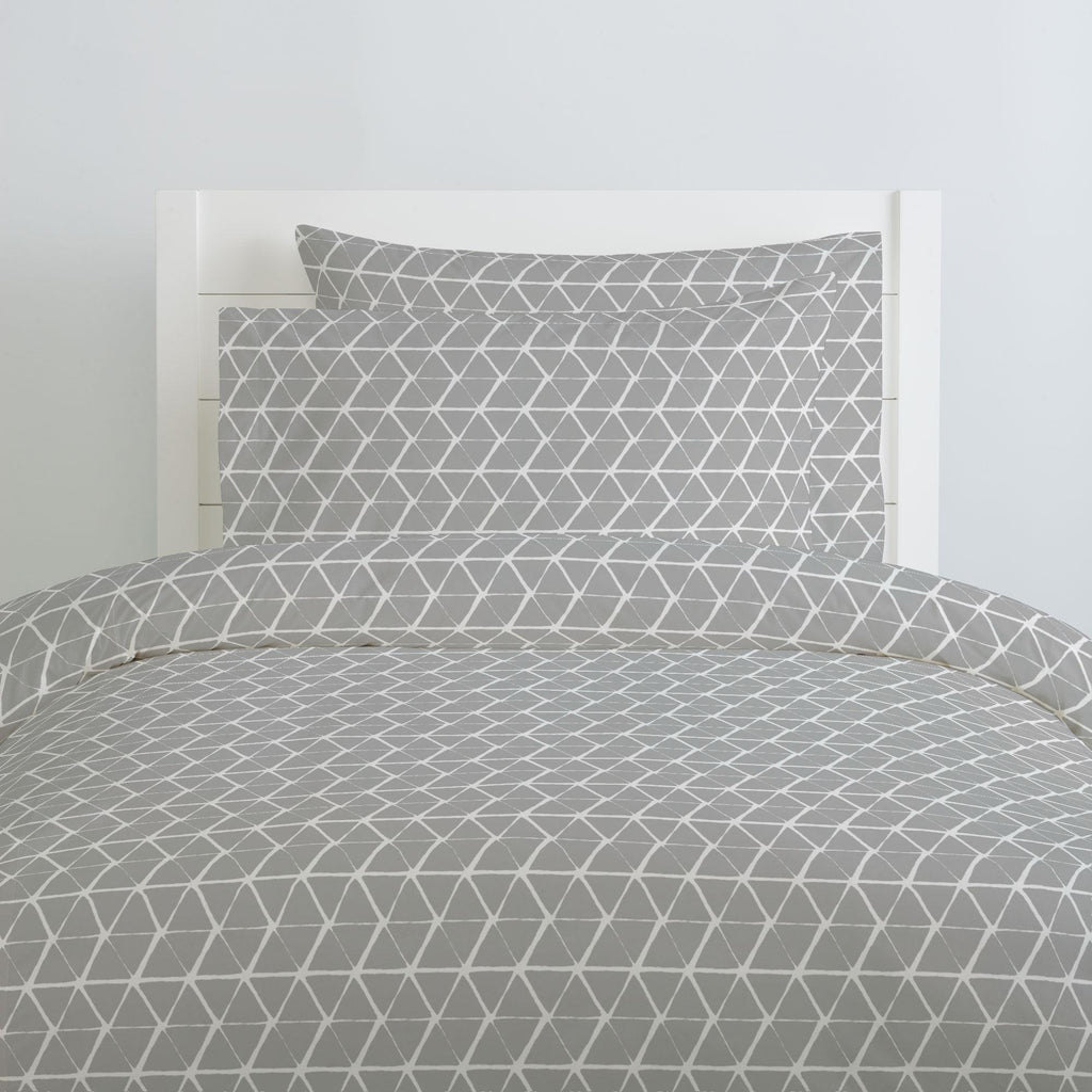 Product image for Gray Aztec Triangles Pillow Case