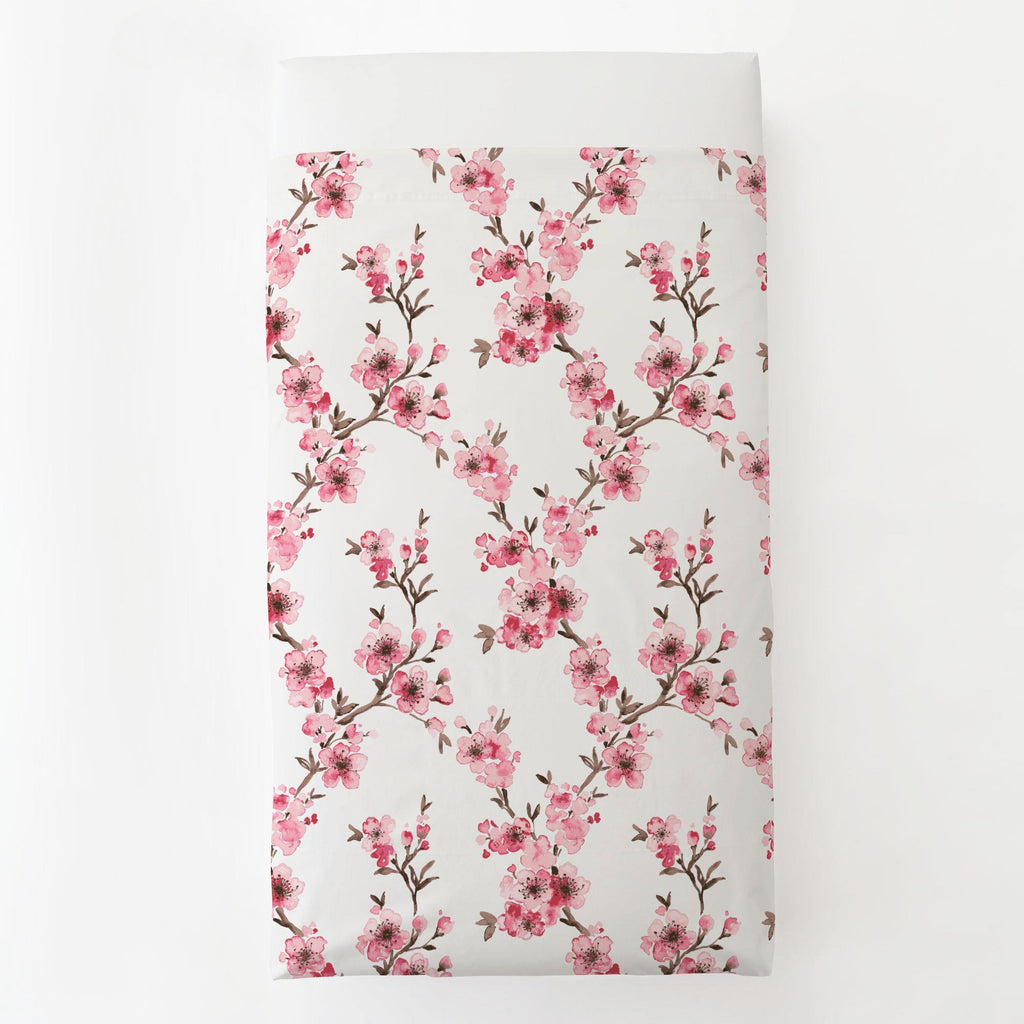 Product image for Pink Cherry Blossom Toddler Sheet Top Flat