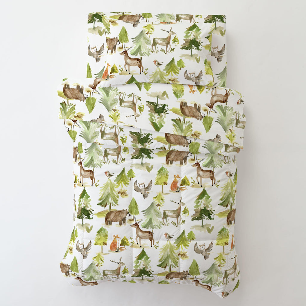 Product image for Painted Forest Toddler Pillow Case with Pillow Insert