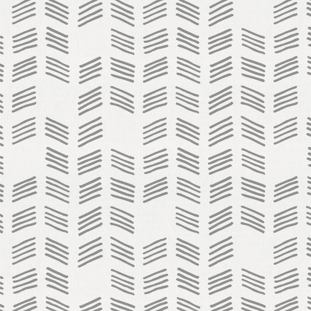 Product image for Silver Gray Tribal Herringbone Drape Panel