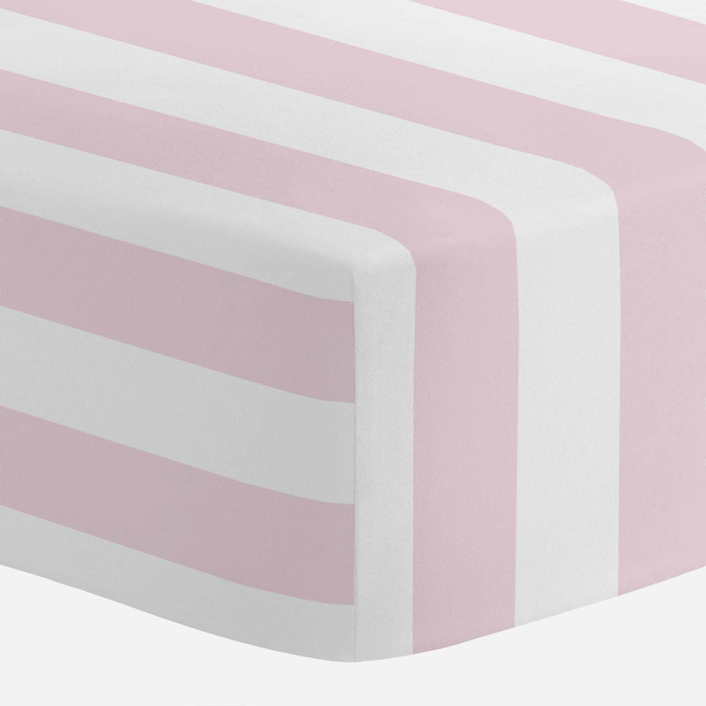 Product image for Pink Stripe Mini Crib Sheet