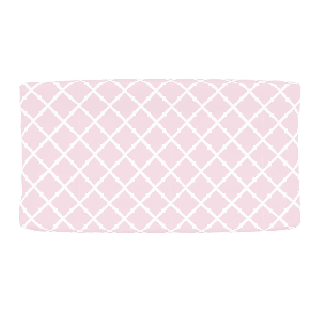 Product image for Pink Lattice Changing Pad Cover