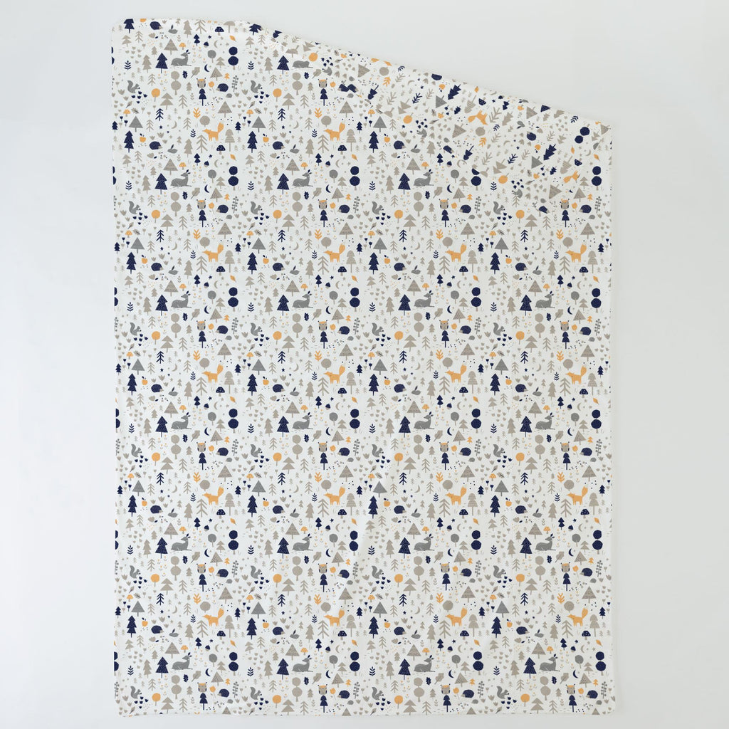 Product image for Taupe and Windsor Navy Baby Woodland Duvet Cover