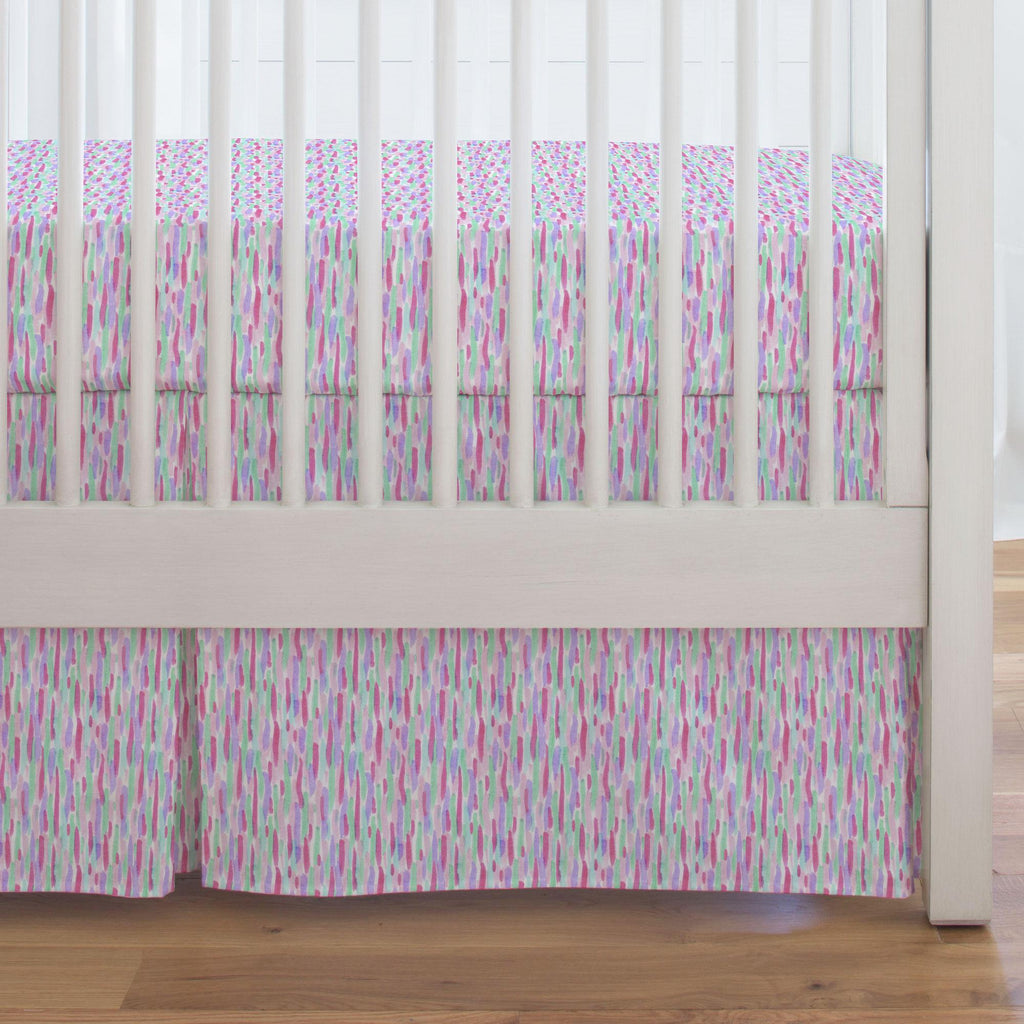 Product image for Unicorn Spots Crib Skirt Single-Pleat