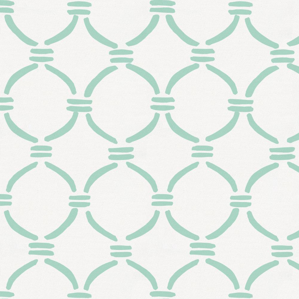 Product image for Mint Lattice Circles Throw Pillow
