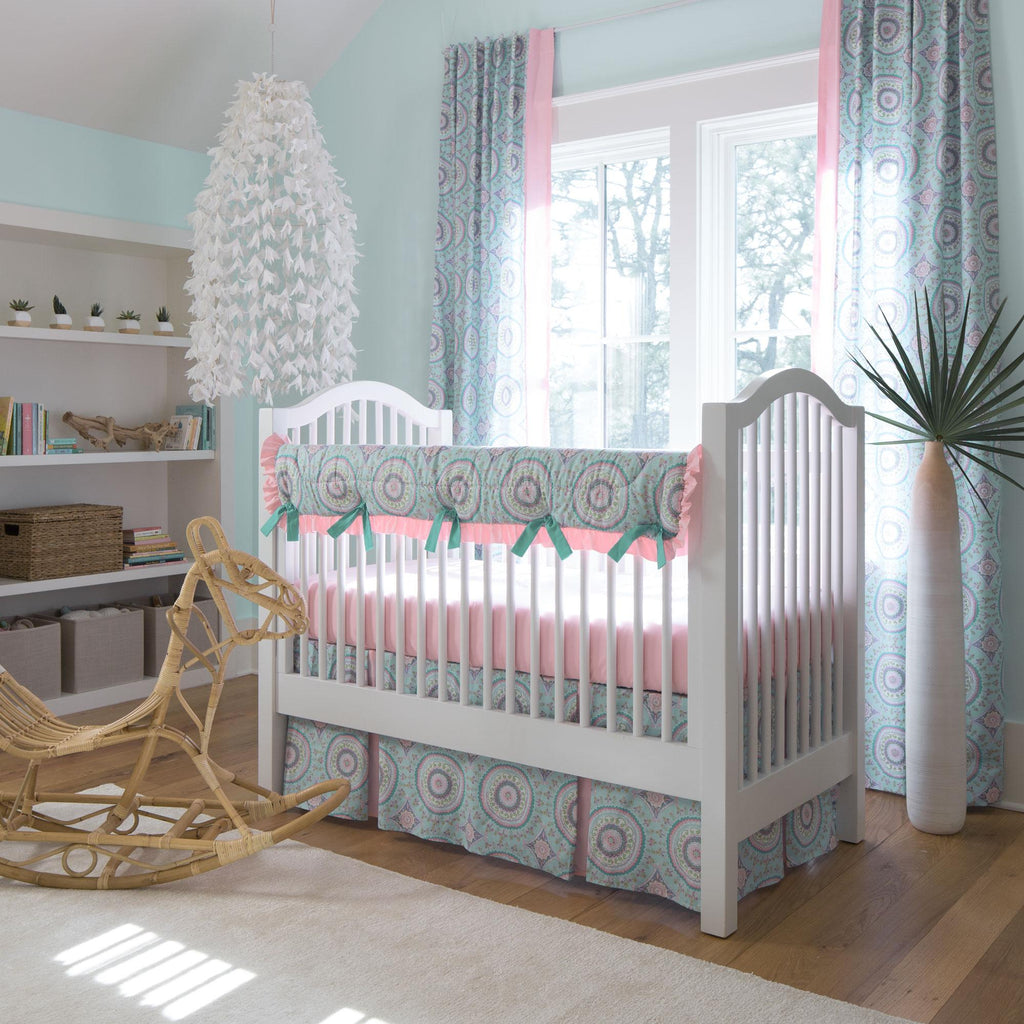 Product image for Aqua Haute Circles Crib Rail Cover