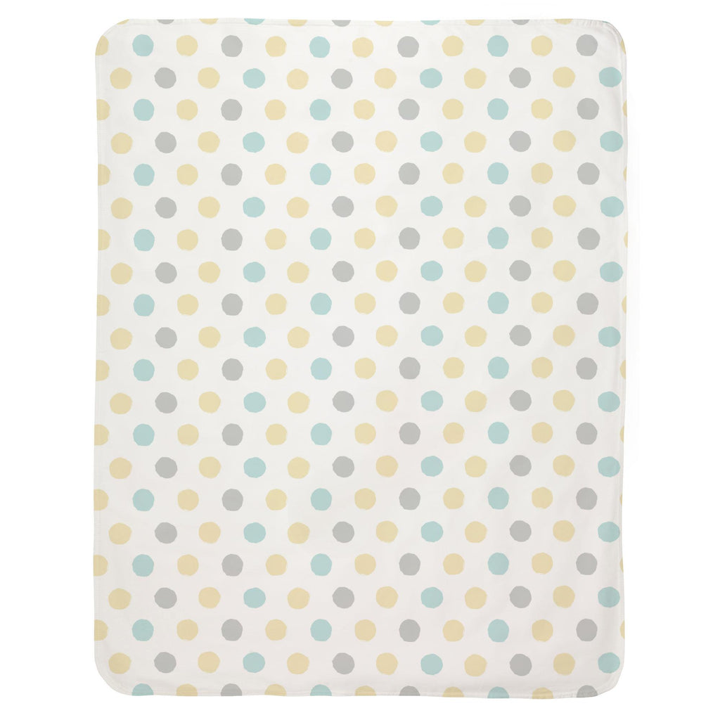 Product image for Mist and Gray Brush Dots Baby Blanket