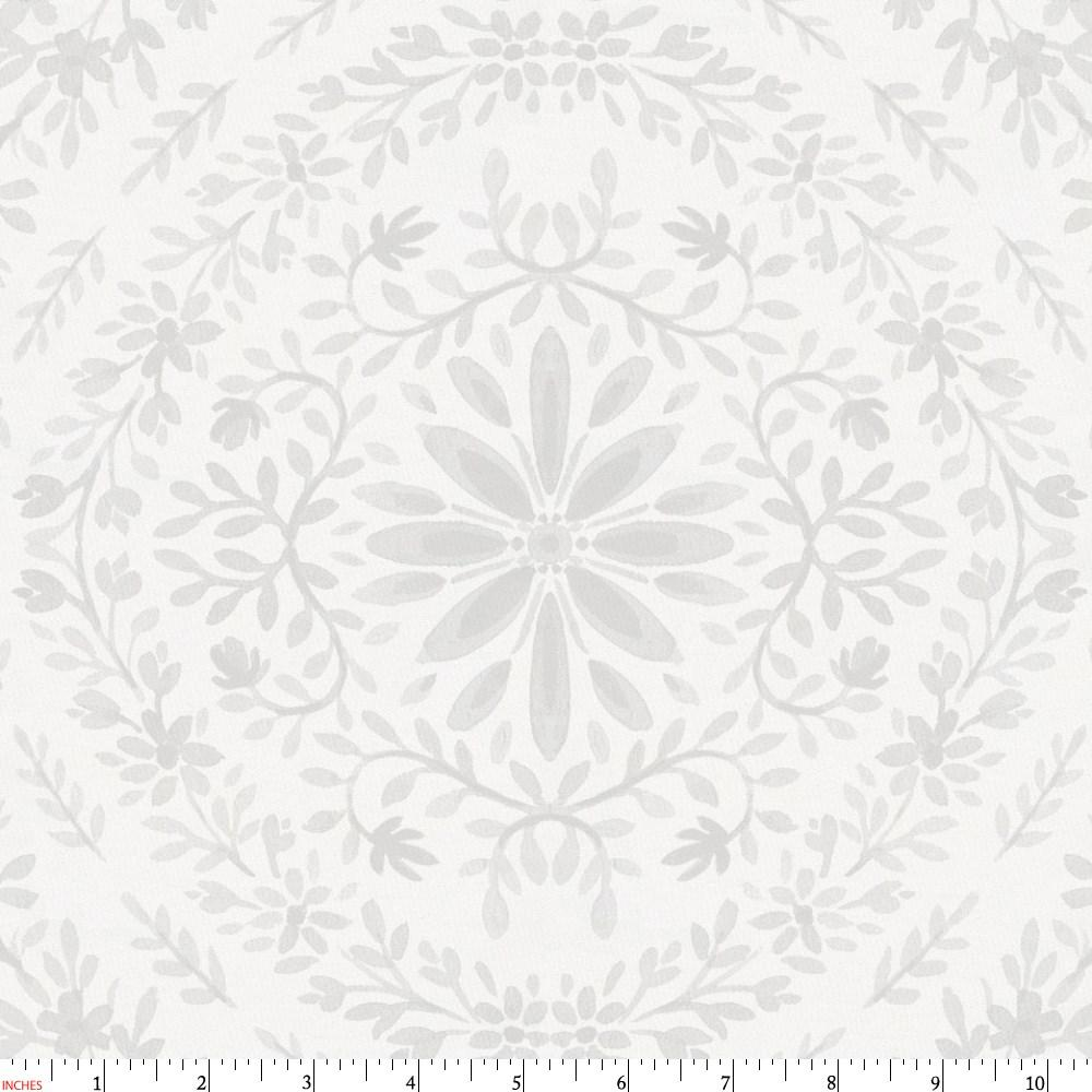 Product image for Gray Floral Damask Fabric