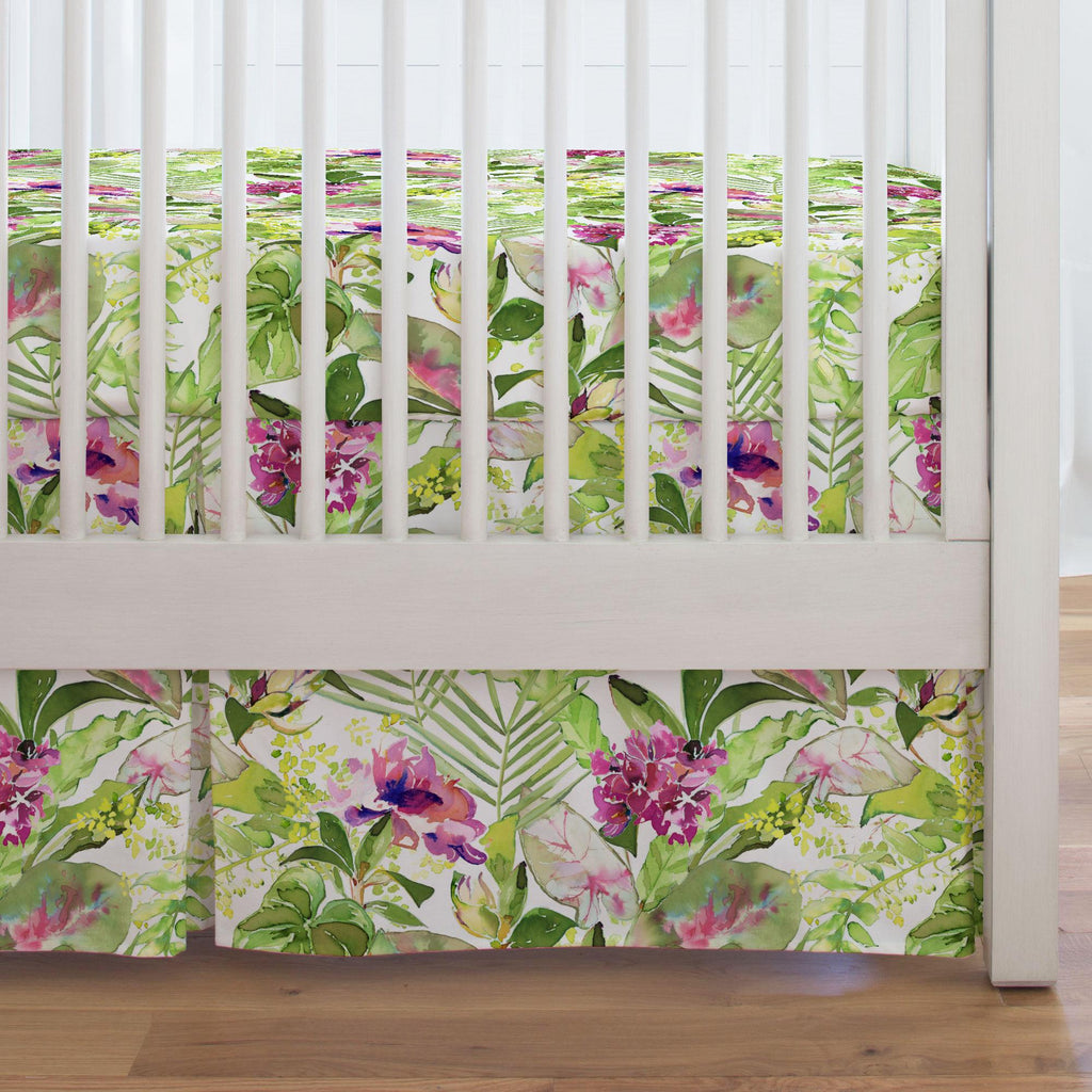 Product image for Tropical Garden Crib Skirt Single-Pleat