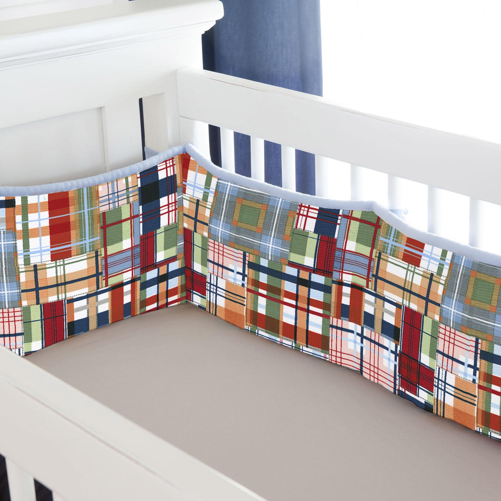 Product image for Patchwork Plaid Crib Bumper
