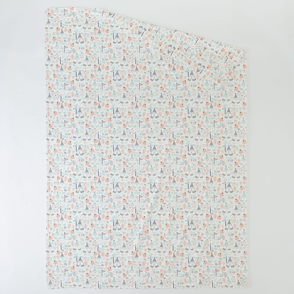Product image for Peach Brave Fox Duvet Cover