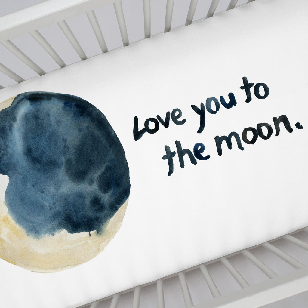 Product image for To The Moon Centerpiece Crib Sheet