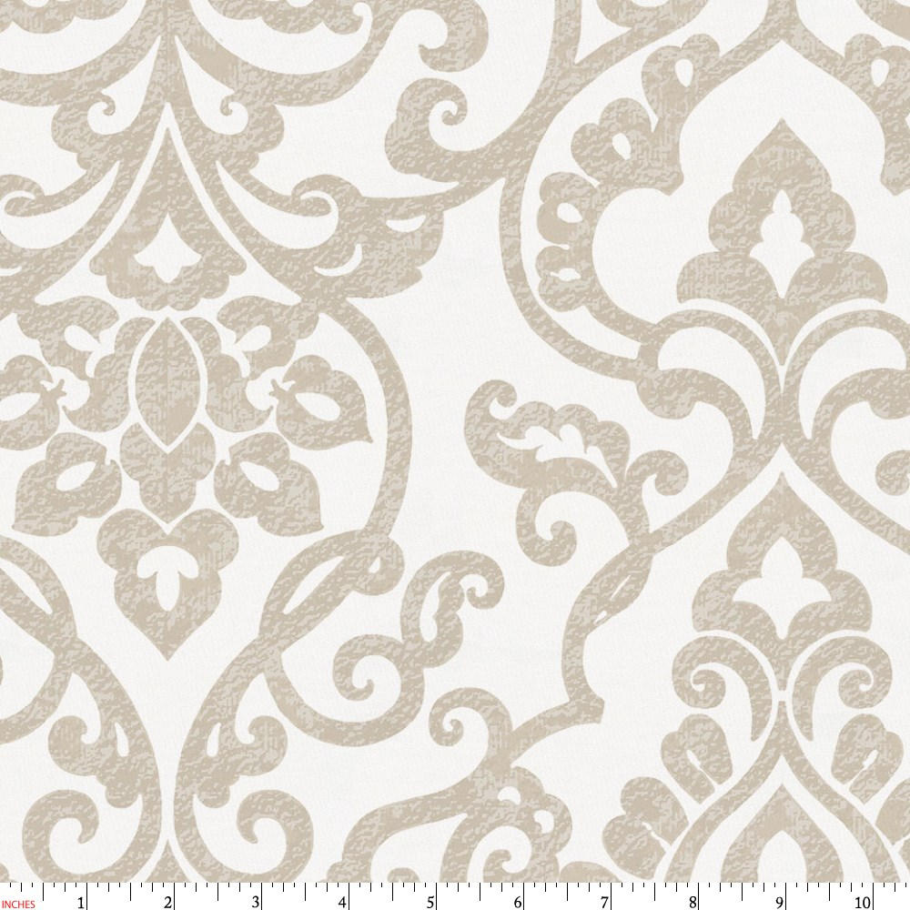 Product image for Taupe Filigree Fabric