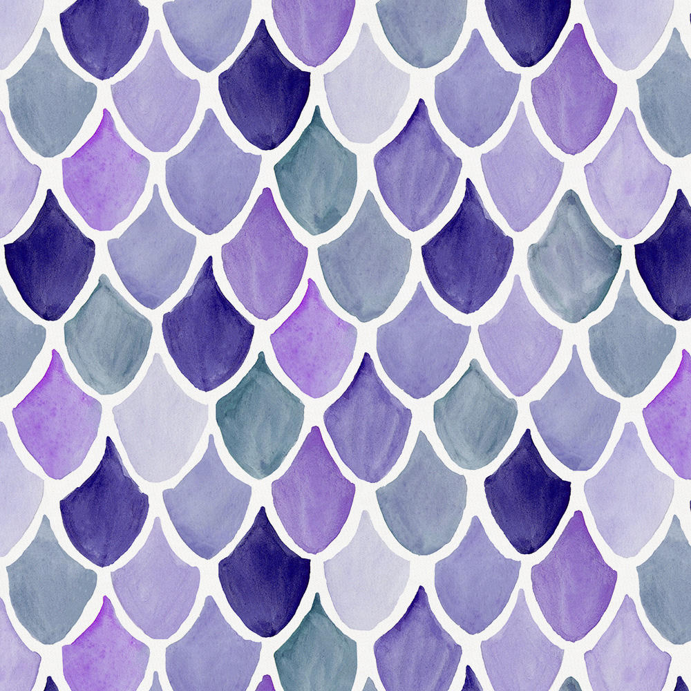 Product image for Lilac Watercolor Scales Drape Panel