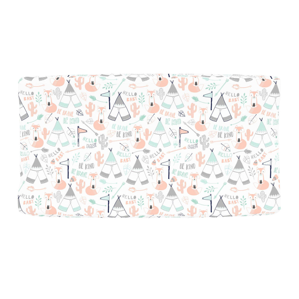 Product image for Peach Brave Fox Changing Pad Cover