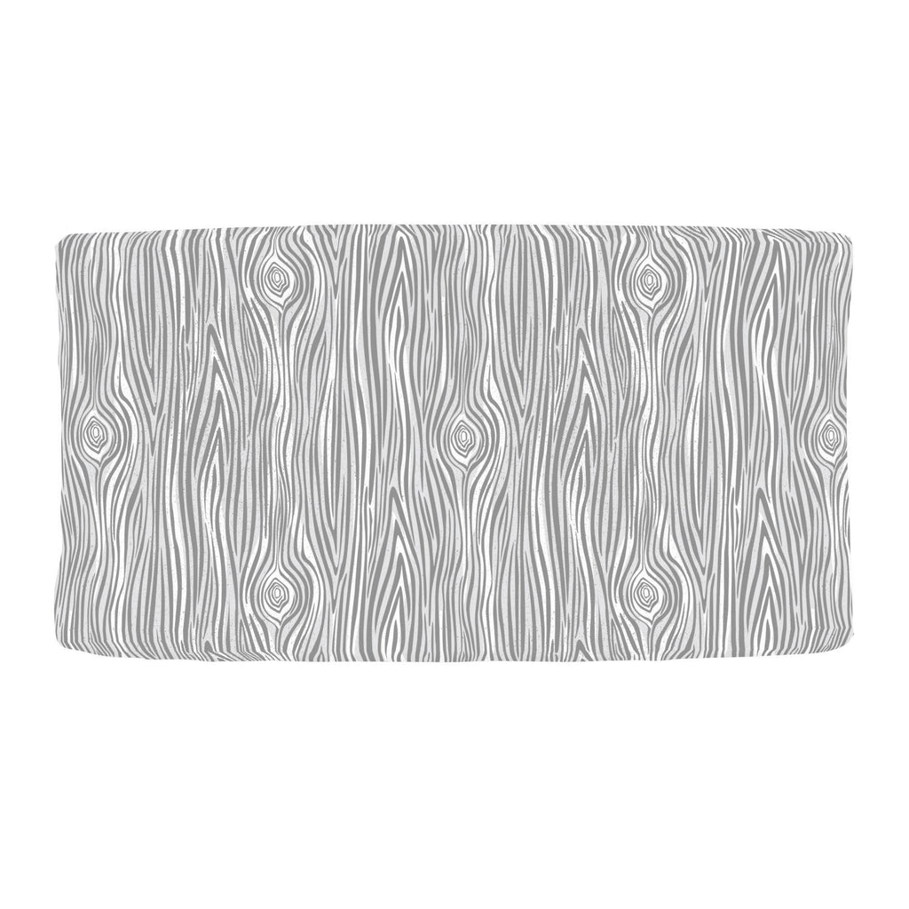 Product image for Gray Woodgrain Changing Pad Cover