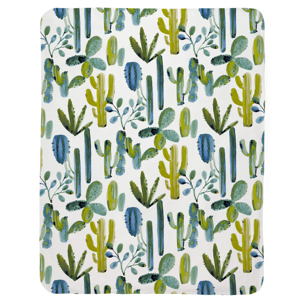 Product image for Blue Painted Cactus Baby Blanket