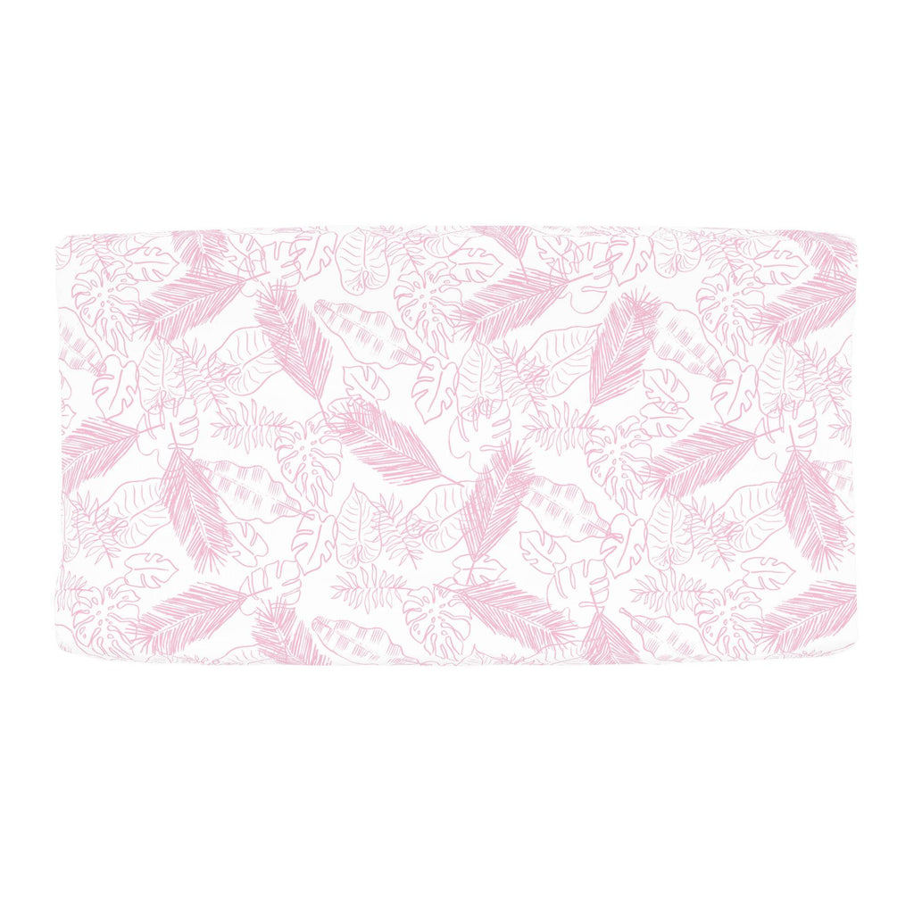 Product image for Bubblegum Palm Leaves Changing Pad Cover