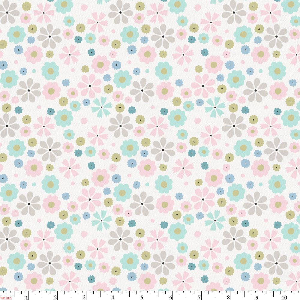 Product image for Pink Spring Flowers Fabric