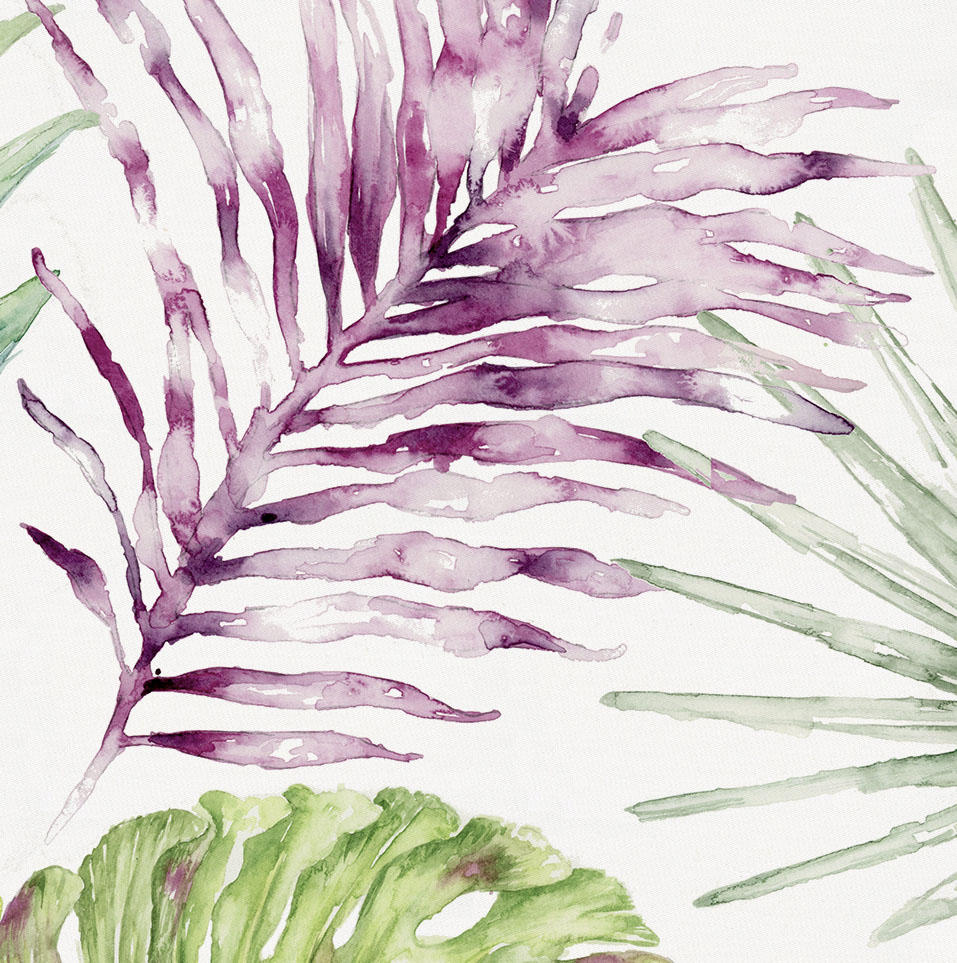 Product image for Purple Painted Tropical Accent Pillow