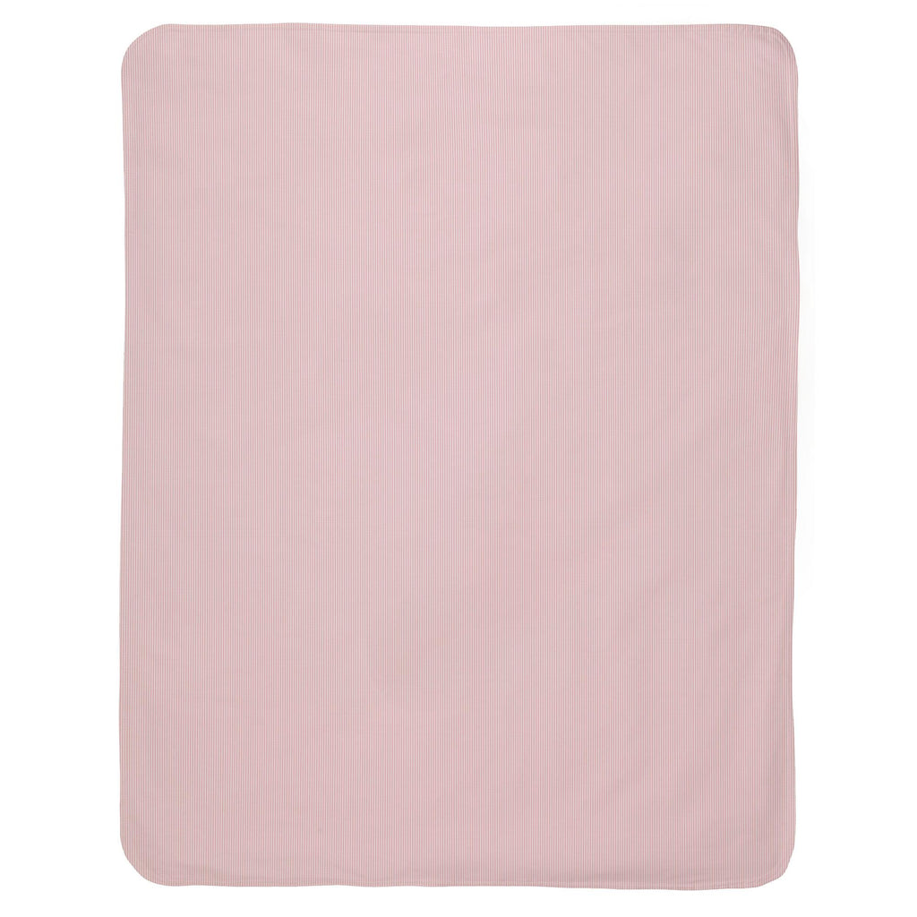 Product image for Pink Mini-Stripe Baby Blanket