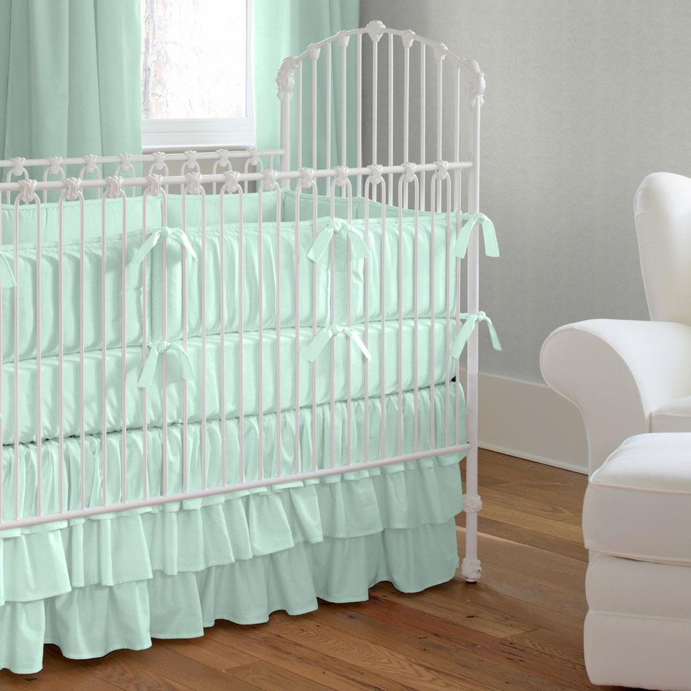 Product image for Solid Mint Baby Blanket