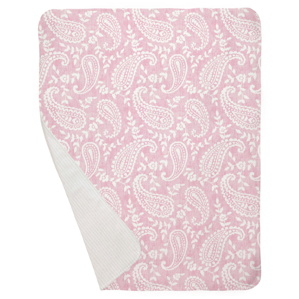 Product image for Pink Paisley Baby Blanket