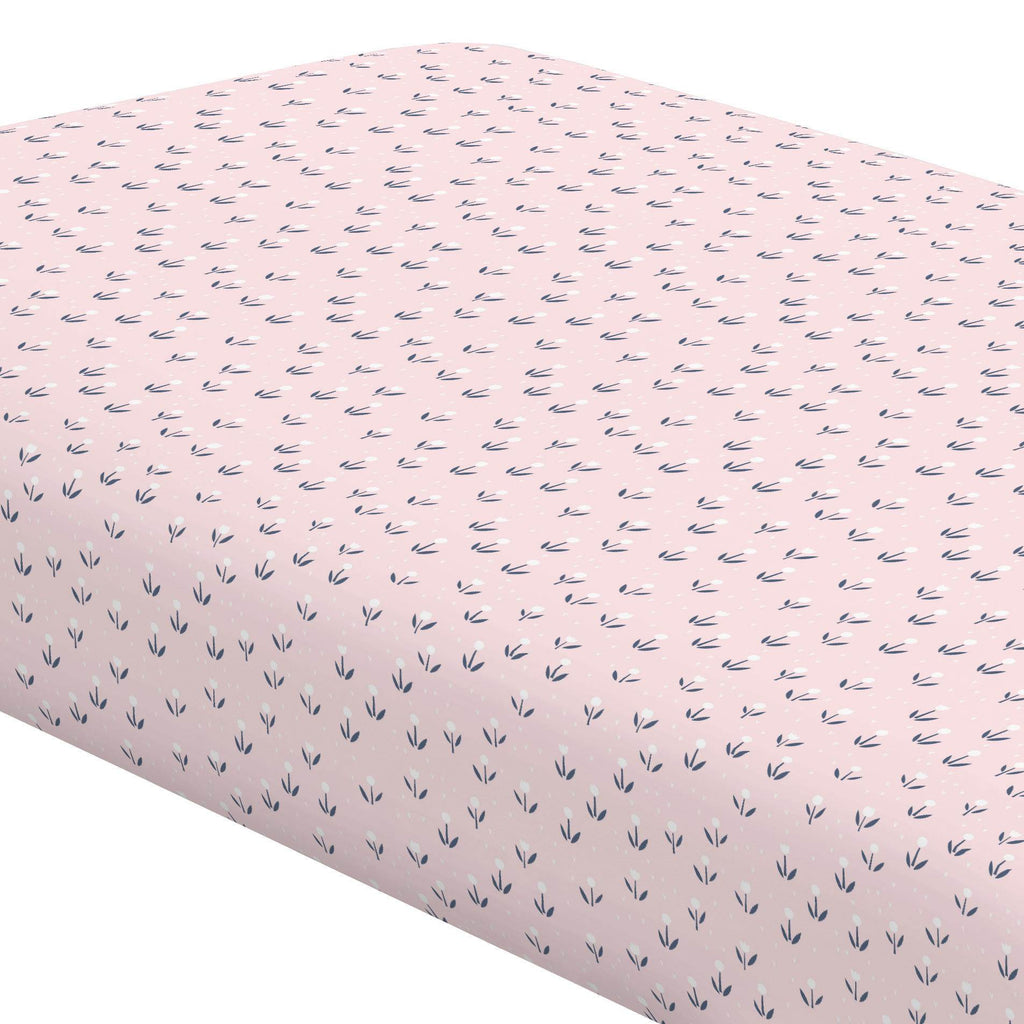 Product image for Pink Baby Woodland Flowers Crib Sheet