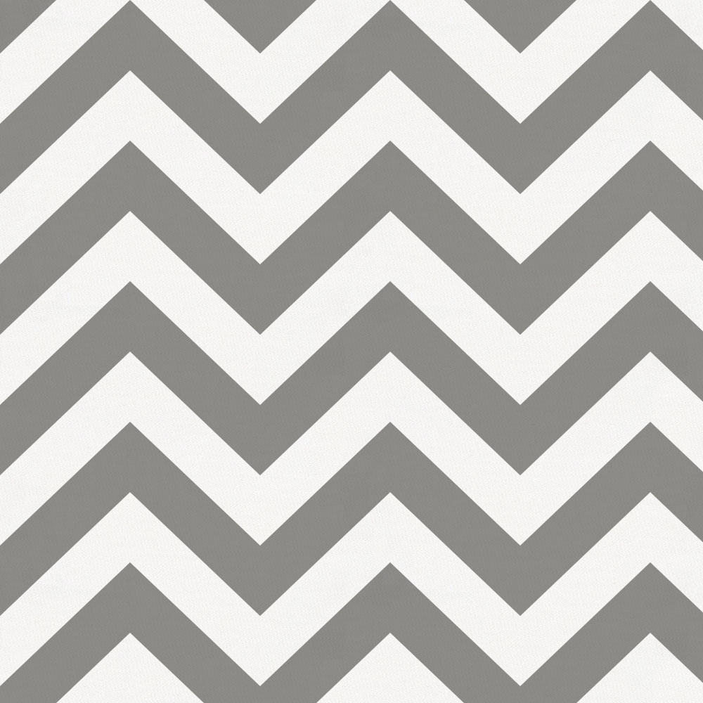 Product image for White and Gray Zig Zag Crib Skirt Gathered