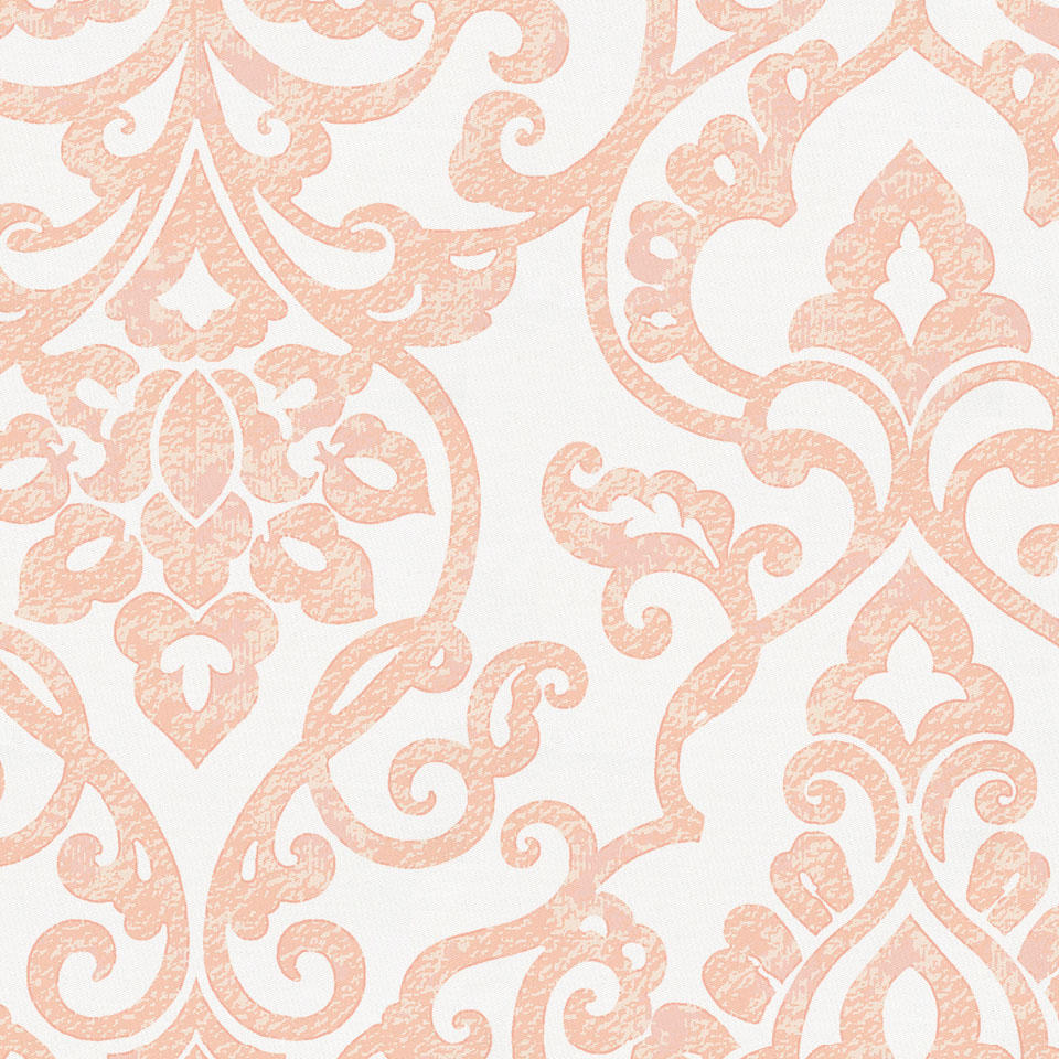 Product image for Peach Filigree Crib Skirt Single-Pleat