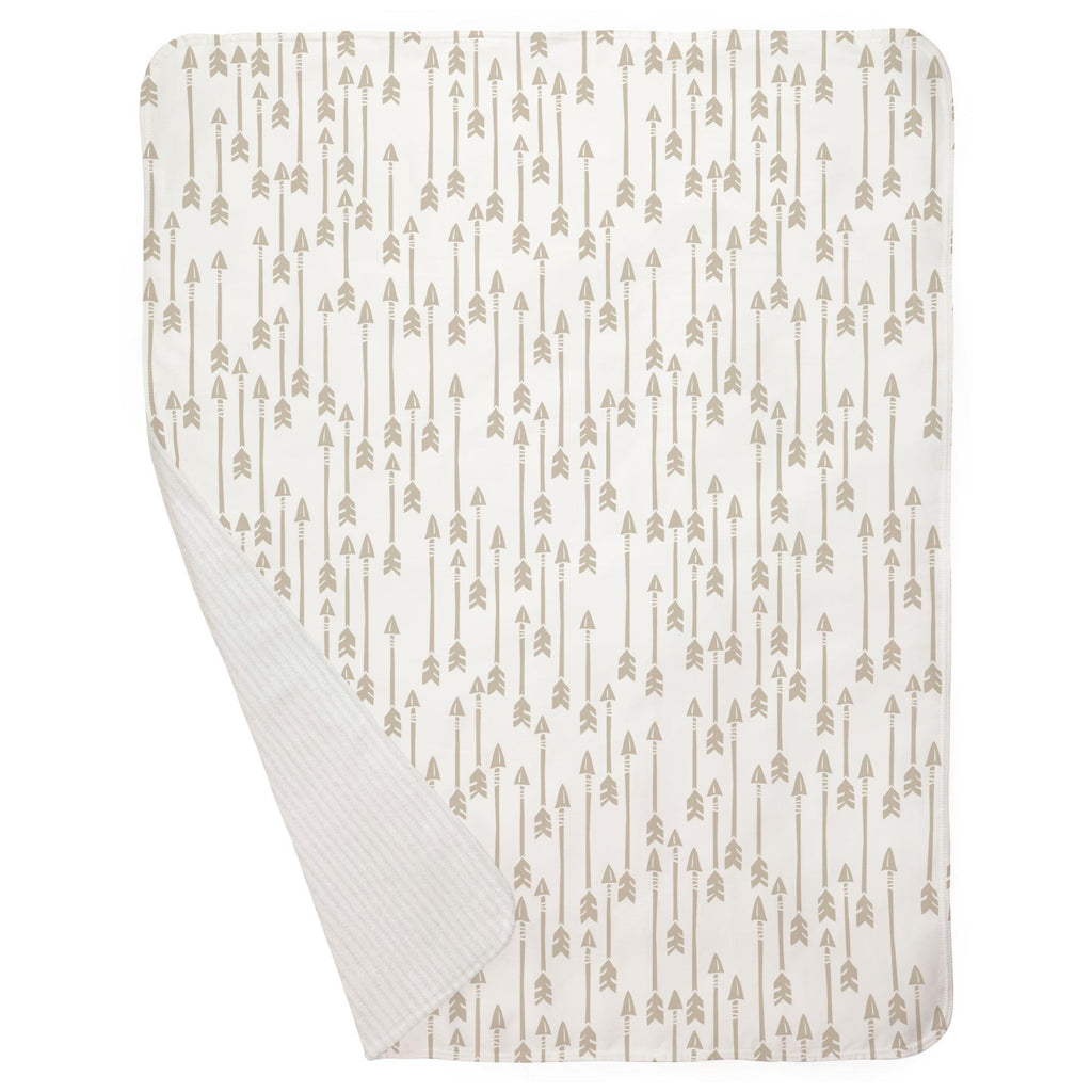 Product image for Taupe Flying Arrow Baby Blanket