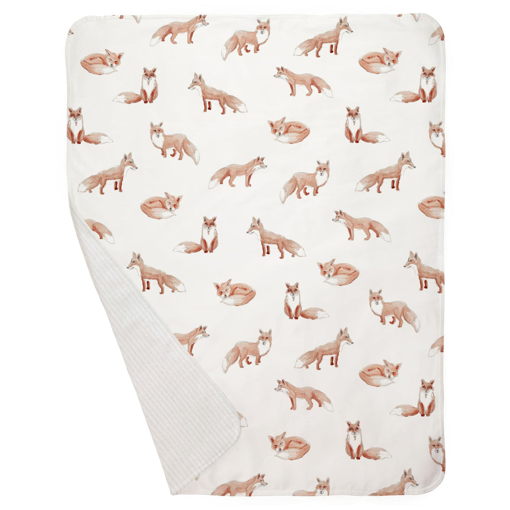 Product image for Watercolor Fox Baby Blanket