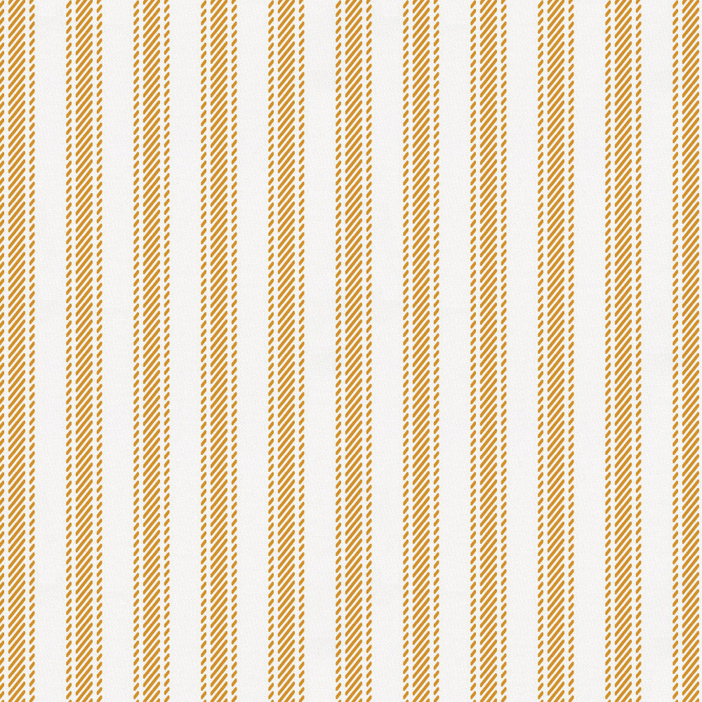 Product image for Mustard Ticking Stripe Crib Skirt Single-Pleat