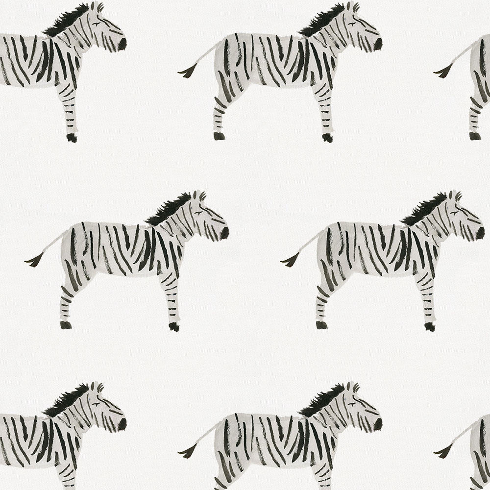 Product image for Painted Zebra Crib Skirt Gathered