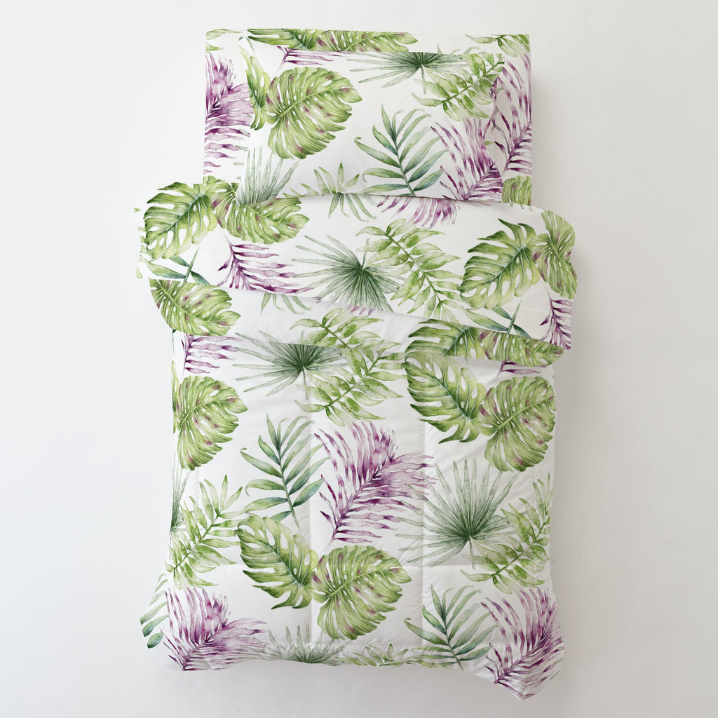 Product image for Purple Painted Tropical Toddler Pillow Case