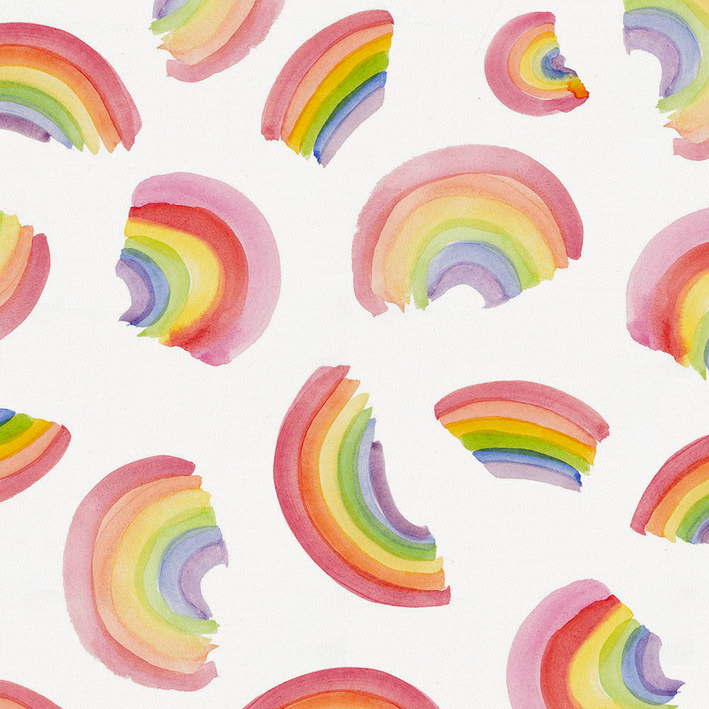 Product image for Watercolor Rainbows Crib Skirt Single-Pleat