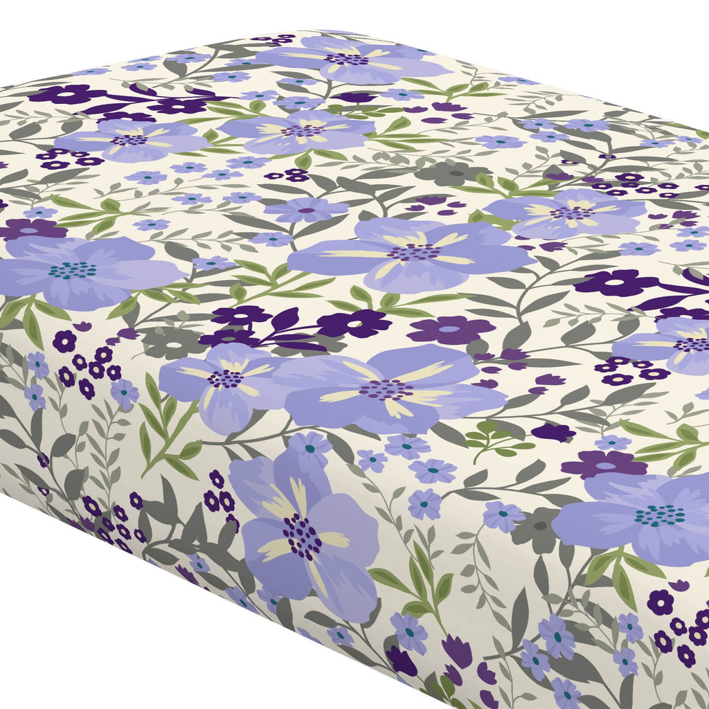 Product image for Lavender Floral Tropic Crib Sheet