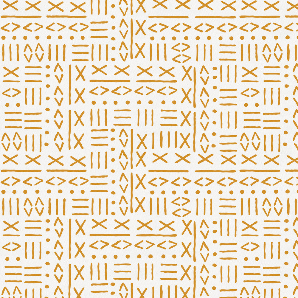 Product image for Mustard Mudcloth Fabric