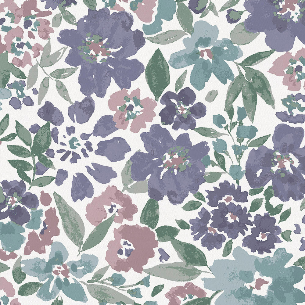 Product image for Purple Prairie Floral Crib Skirt Gathered