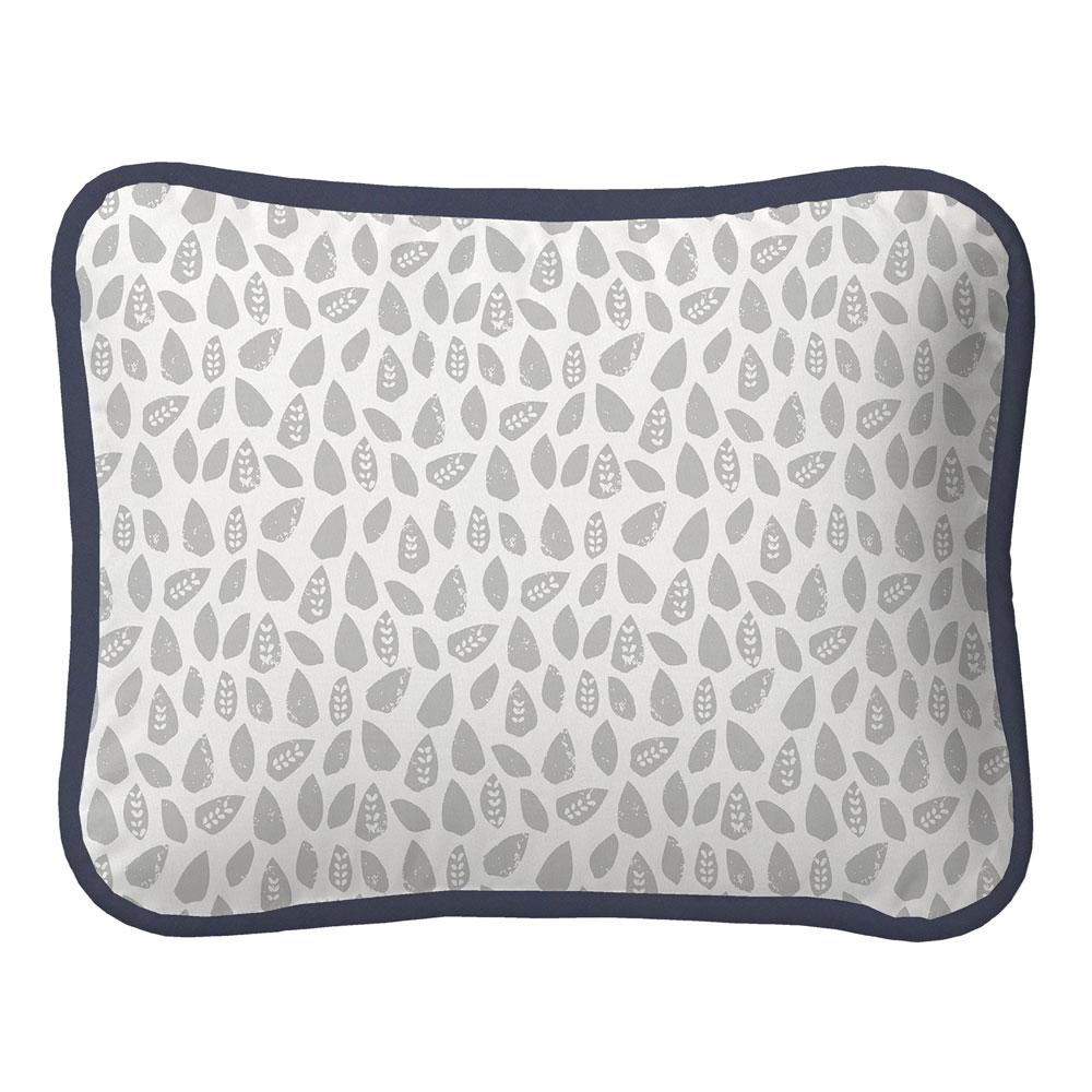 Product image for Gray Woodland Leaf Fabric