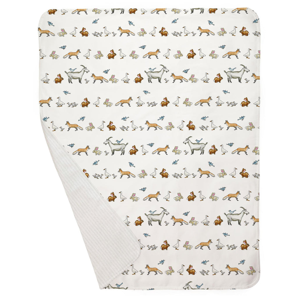 Product image for Bunny Farm Baby Blanket