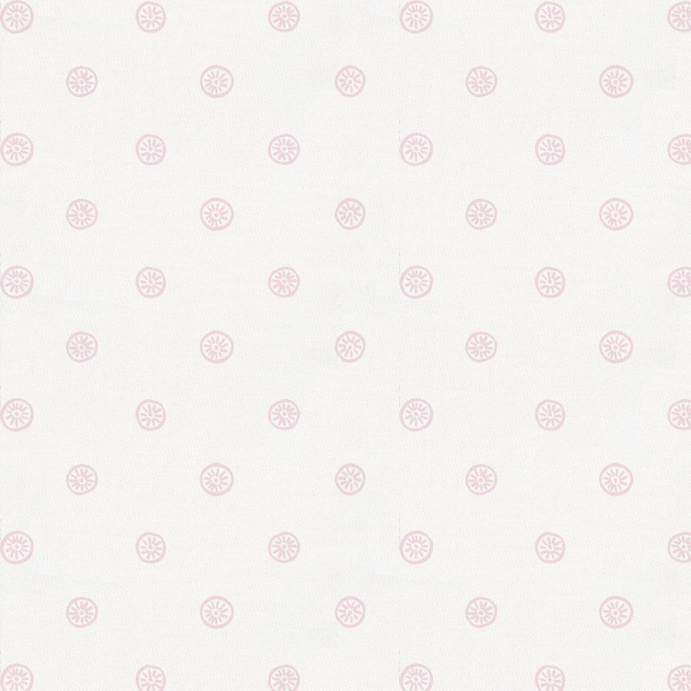 Product image for Pink Ditsy Dot Crib Skirt Gathered