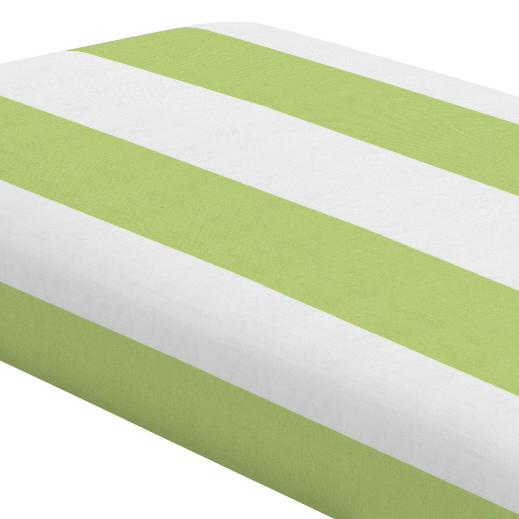 Product image for Kiwi Horizontal Stripe Crib Sheet