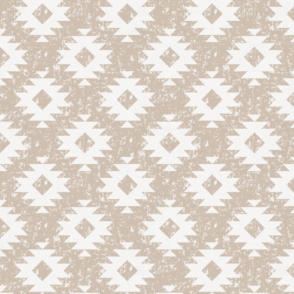 Product image for Taupe and White Aztec Crib Skirt Gathered