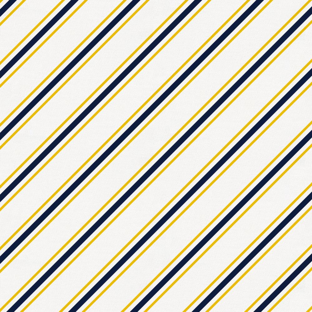 Product image for Yellow and Navy Necktie Stripe Crib Skirt Single-Pleat