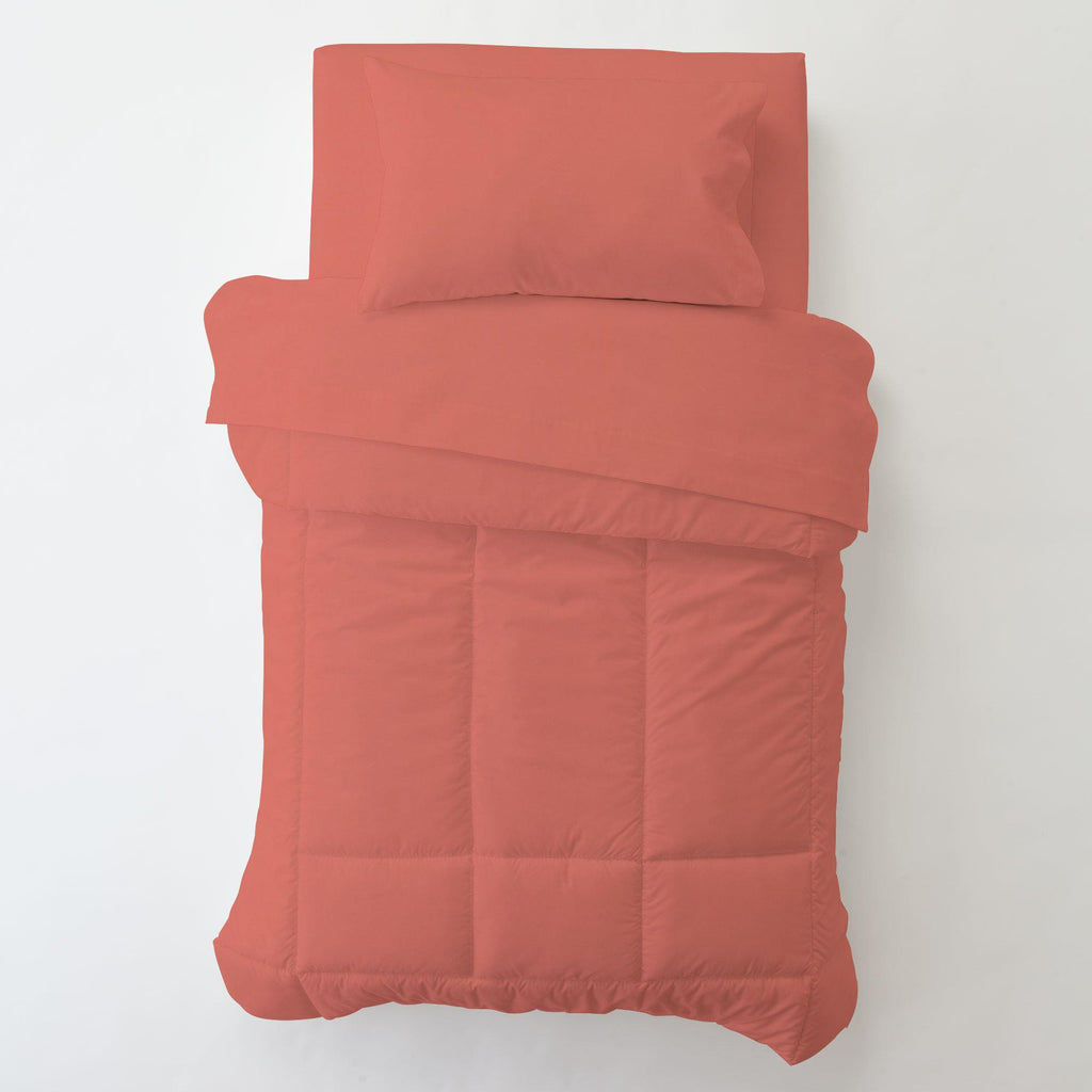 Product image for Solid Coral Toddler Pillow Case