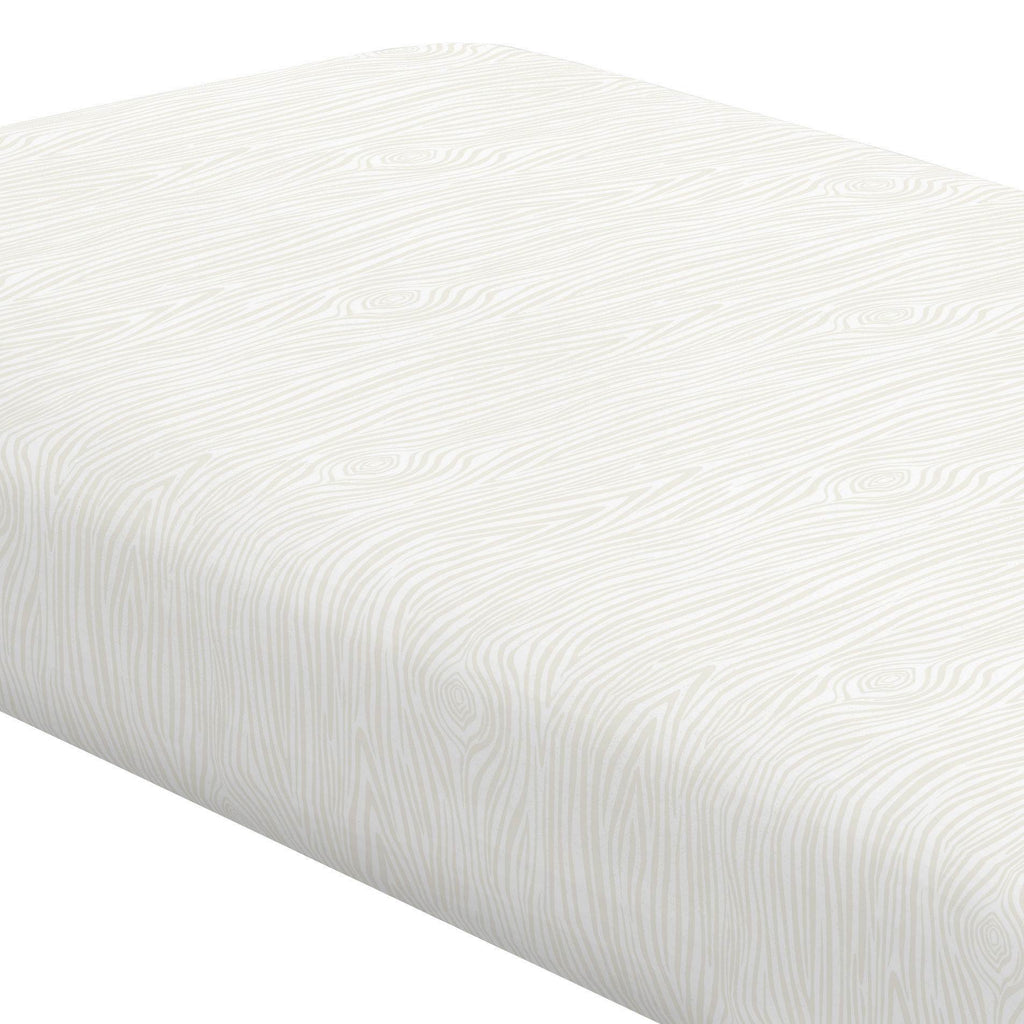 Product image for Ivory Woodgrain Crib Sheet