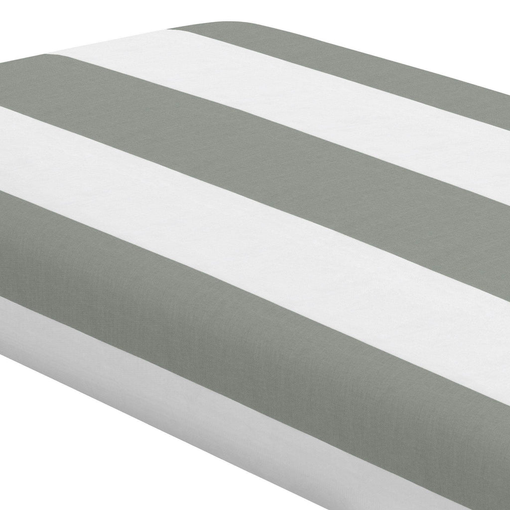 Product image for Cloud Gray Horizontal Stripe Crib Sheet