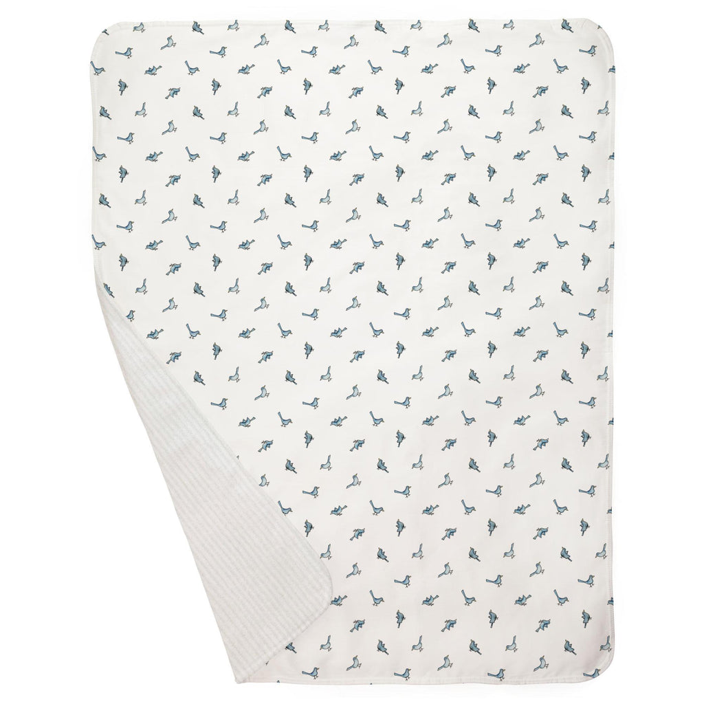 Product image for Blue Birds Baby Blanket